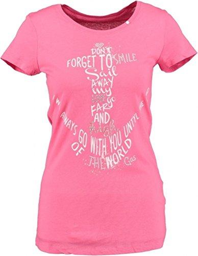 Gas Rosa T-shirt mit Nieten