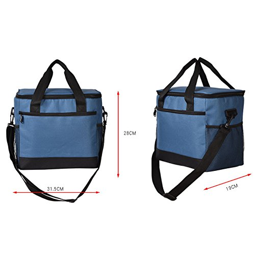 with Bag Strap Navy Large Cooler Lunch Picnic Lunch Men Bag for Shoulder Feicuan Adjustable Handle Bag Capacity Insulated Women R6BwCqv