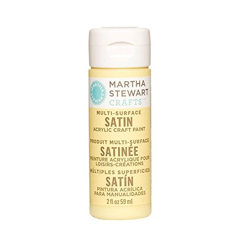 Martha Stewart Crafts Multi-Surface Satin Acrylic Craft Paint in Assorted Colors (2-Ounce), 32065 Jonquil