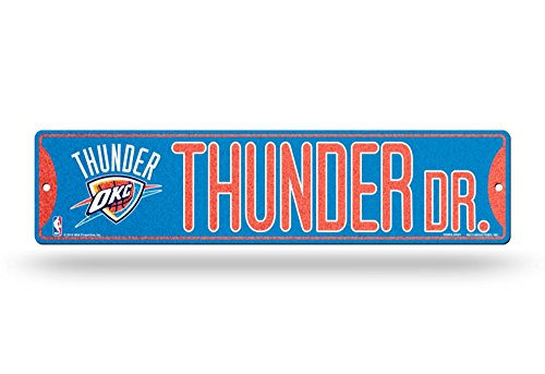 Rico Oklahoma City Thunder NBA Bling Glitter Sparkle 16'' Street Sign by Rico