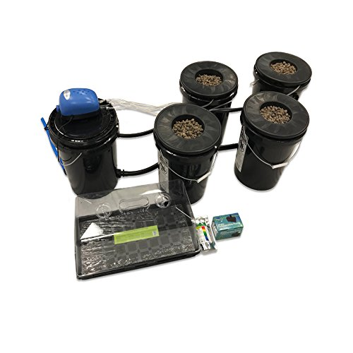 Viagrow VRDWC-4 Recirculating Deep Water Culture (DWC) 4-Bucket Hydroponic System Kit (System Recirculating)