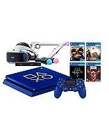 PlayStation 4 Days of Play PSVR FPS Deluxe Bundle: PlayStation 4 1TB Days of Play Limited Edition Console, PSVR Starter Bundle, Aim Controller, Farpoint, Doom VFR, Bravo Team and Skyrim VR