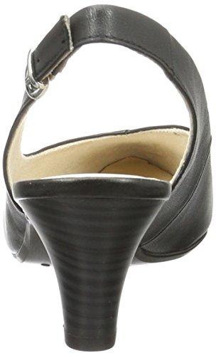 Caprice 29699, Sandalias con Cuña para Mujer Negro (Black)