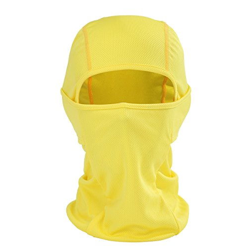 ECYC Full Face Mask Balaclava Windproof Skiing Combo Scarf for Cold Winter Weather Yellow