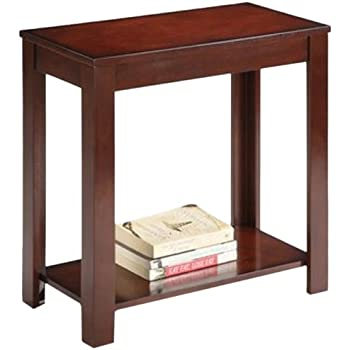 ORE International 7710 Traditional Side Table, Dark Cherry, 24 Inch