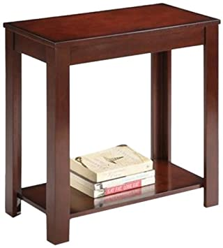 Swell Ore International Traditional Side Table Dark Cherry 24 Inch Caraccident5 Cool Chair Designs And Ideas Caraccident5Info