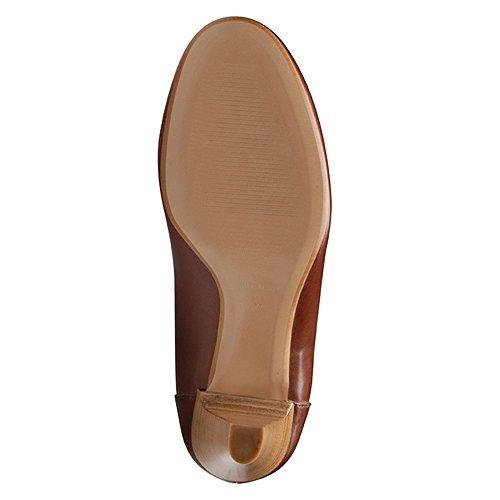 marrón Shoes Marrón para de Evita de mujer vestir Piel Zapatos 1RPqPfBp
