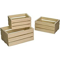 Multicraft Imports WS920 Wood Craft Crate Caddy Set (3 Pack)
