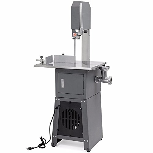 XtremepowerUS 2-in-1 Professional Butcher Meat Cutting Cutter Band Saw Mincer Grinder Sausage Stuffer Maker, 550W
