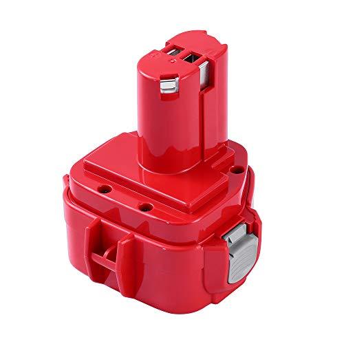 12 Battery Volt 1201 - 12V 3000mAh Battery for Makita 1200 1220 1201 PA12 1222 1233S 1233SA 1233SB 1235 192681-5 Cordless Tools
