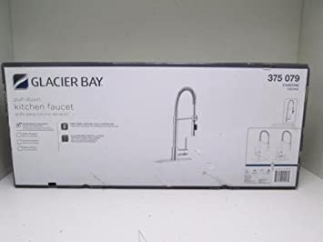 glacier bay series 400 single handle pull down sprayer kitchen faucet in chrome - Glacier Bay Kitchen Sink