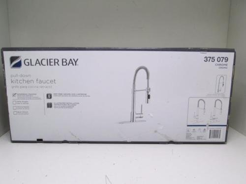 Glacier Bay Series 400 Single-Handle Pull-Down Sprayer Kitchen Faucet in Chrome