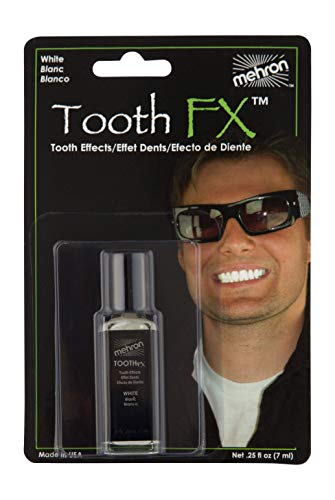 Mehron Makeup Tooth FX with Brush for Special Effects, Halloween, Movies (.25 oz) -