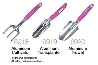 Bond 6918 Aluminum Garden for the Cause 3-Tine Cultivator, Pink, 11-Inch
