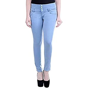 FNOCKS Casual Ankle Length Slim Fit Women Jeans (Blue Black & Grey) 28 30 32 34 36
