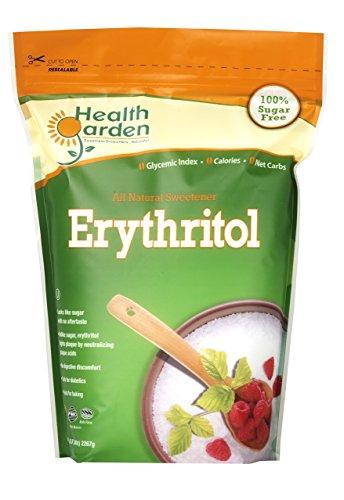Health Garden Erythritol All Natural Sweetener, 5 lb. Bag (Kosher Sweetener)