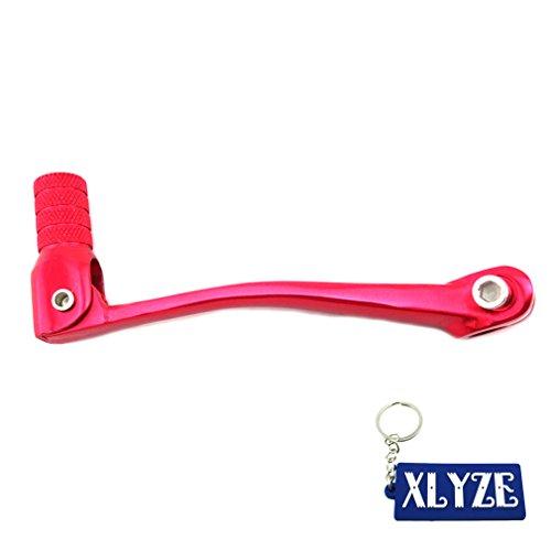 XLYZE Red-Aluminum Folding Gear Shifter Lever For 50cc 110cc 125cc 140cc 150cc 160cc XR50 KLX110 CRF50 CRF70 SSR GPX YCF SSR Pit Dirt Bike
