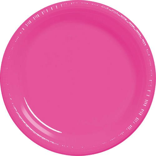 Amscan Big Party Pack 50 Count Plastic Lunch Plates, 10.5-In
