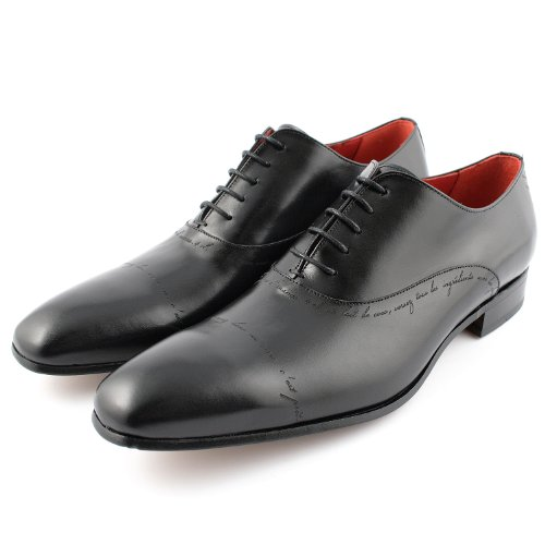 Exclusif Paris Cocktail 40, Richelieus Cuir Noir Taille 40