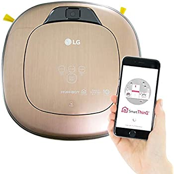 LG Electronics Hom-Bot Robotic Vacuum Cleaner in Metal Gold