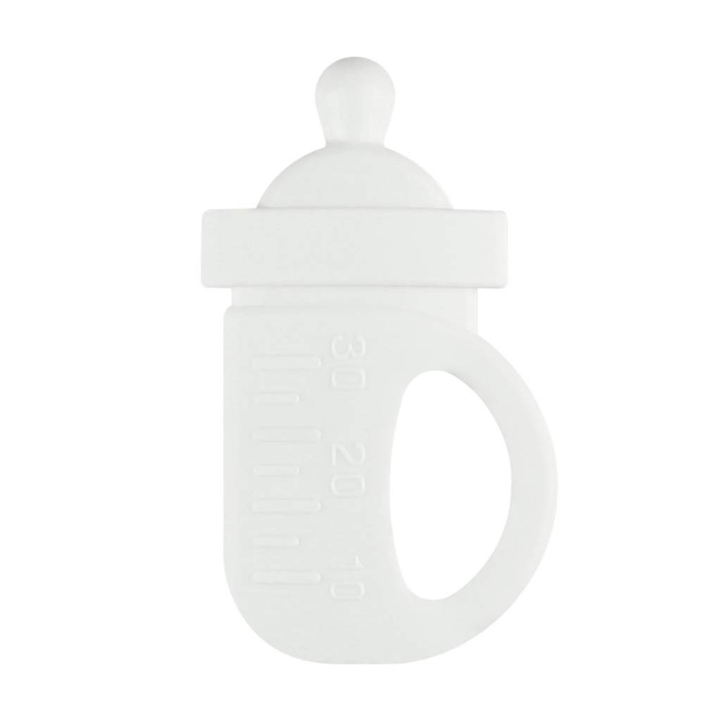 Yuanhaourty Silicone Baby Teether Small Milk Bottle Modeling Food Grade Silicone Infant Molar Stick Pacifier Supplies Toys