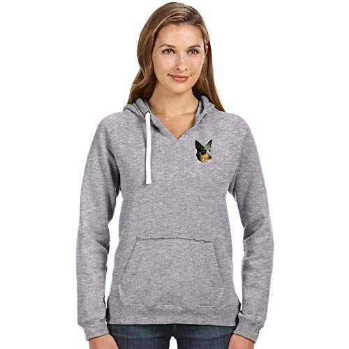 Cherrybrook Breed Embroidered Ladies J America Pullover Hoodie - Large - Oxford - Australian Cattle ()