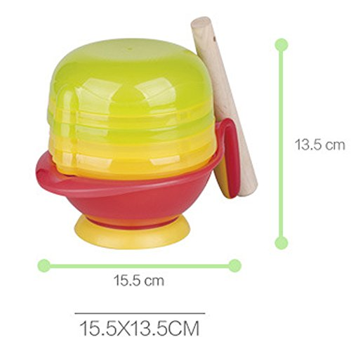 Mash and Serve Bowl 8 In 1,Baby Bowl 4 Months(Green)