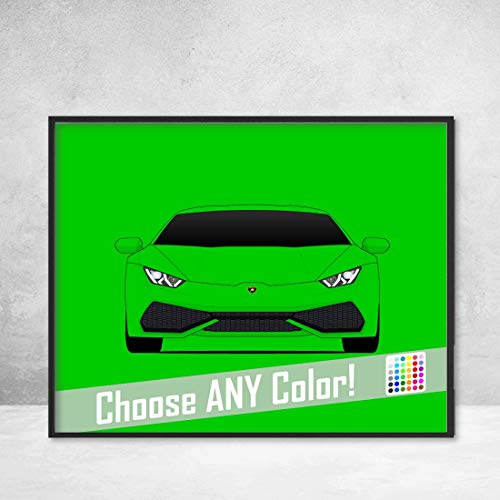 (Lamborghini Huracan Poster Print Wall Art Decor Handmade LP 640-4 580-2 Coupe Avio Spyder Performante)