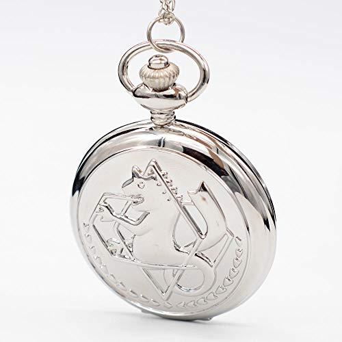 Silver Alchemy Quartz Pocket Watch | Wonderful Necklace Chain Pendant | Gift Regarder Men Women | Men's Pocket Watches - Bronze Alchemy New