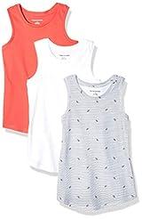 Amazon Essentials Girls' 3-Pack Tank Top...