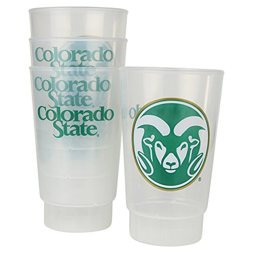 NCAA Frosted Plastic Tailgating Cups, 16oz.(4-Pack) (Colorado State Rams)