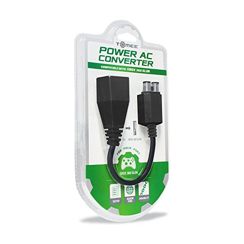 Tomee Power AC Converter for Xbox 360 Slim (Xbox Power Supply Adapter)
