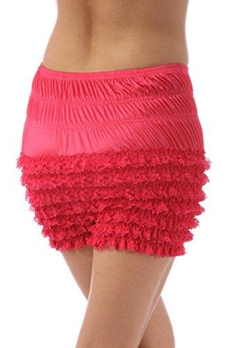Malco Modes Womens Sexy Ruffle Panties Tanga Dance Bloomers Sissy Booty Shorts (X-Large, Raspberry)
