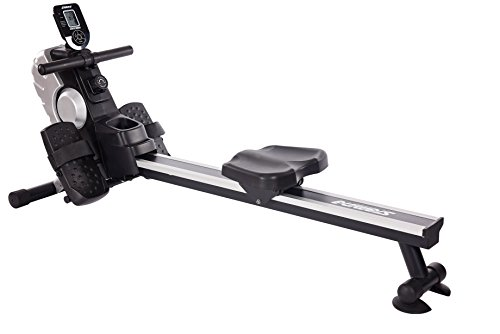 Stamina Magnetic Rower with 8 Level Magnetic Resistance, Multi-Functional Workout Monitor, and Floor Protectors