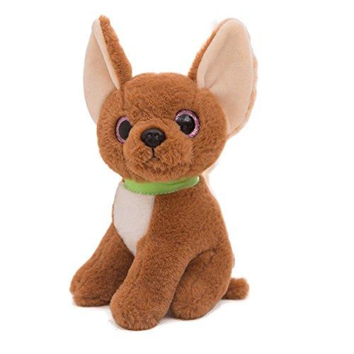 Brown Chihuahua - Gloveleya Plush Chihuahua Dog 2018 Chinese New Year Stuffed Doggy Puppy Dolls Animal Toys Brown 9''