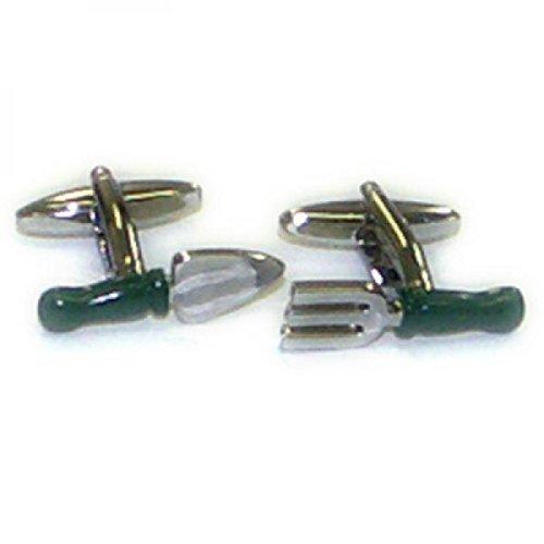 Handled Trowel - Gtr Men's Cufflinks X2Psn315 Green Handled Fork And Trowel One Size