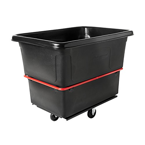 - Rubbermaid Commercial Utility Cart, 20 Cu. Ft., Black, FG472000BLA