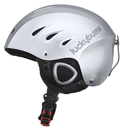 Lucky Bums Snow Sport Helmet with Fleece Liner, Silver, Small