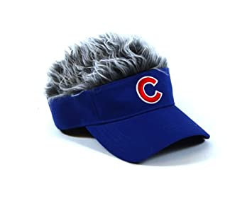 Concept One Accessories MLB Chicago Cubs Flair Hair Adjustable Visor ... 7aa69065d5b