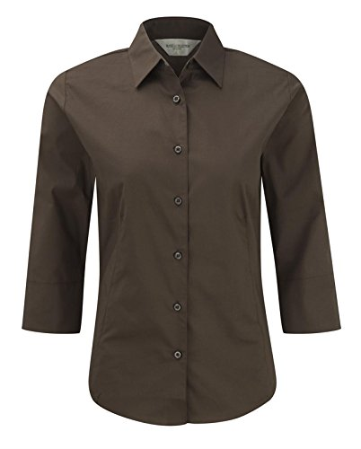 Russell Collection -camisa Mujer Chocolate
