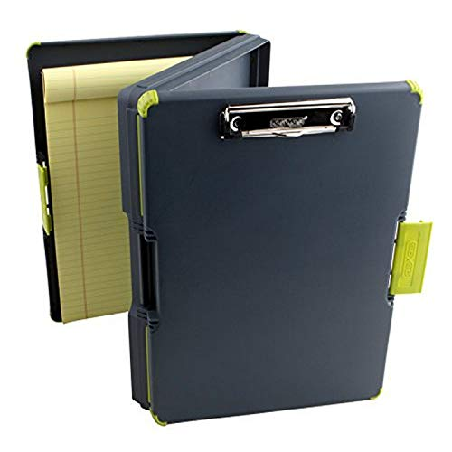 Dexas Duo Clipcase Dual Sided Storage Case and Organizer, Green (Dexas Clipboard Storage)
