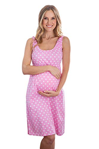 Baby Be Mine Maternity Nursing Nightgown - Sleeveless (Large pre Pregnancy 12-14, Molly)