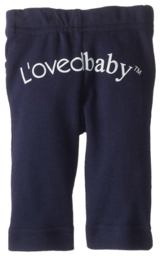 L'ovedbaby Unisex-Baby Newborn Organic Signature Pants, Navy, 9/12 Months by L'ovedbaby (Image #2)
