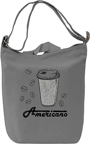 Americano Borsa Giornaliera Canvas Canvas Day Bag| 100% Premium Cotton Canvas| DTG Printing|