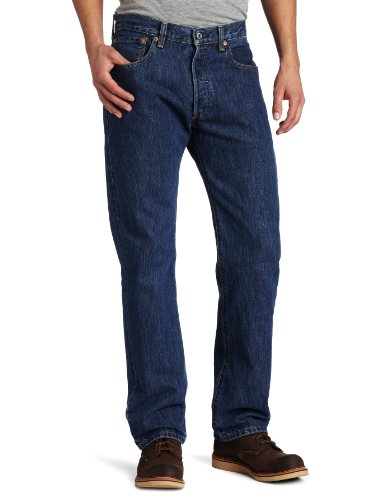 Levi's Men's Big and Tall 501 Original Fit Jean, Dark Stonewash, 52W x 30L
