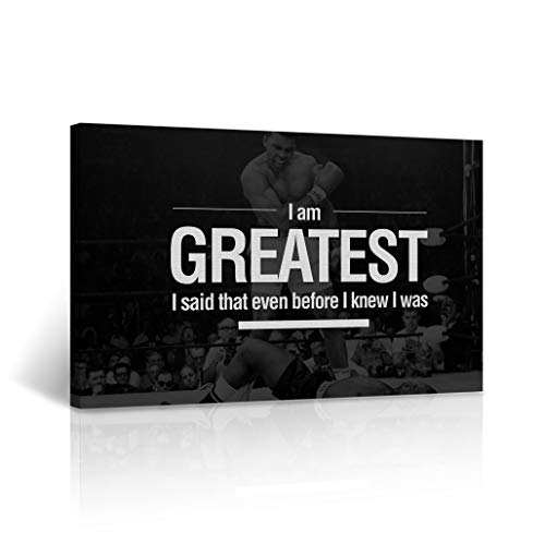 Buy4Wall Muhammad Ali Quote I am Greatest. I Said That Even Before I Knew I was. Decorative Inspirational Wall Art Home Decor Artwork Stretched - Framed Ready to Hang -%100 Made in The USA 8x12