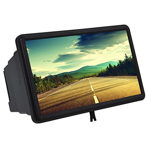 Dewin TV Phone Magnifier - Amplificador de Pantalla retráctil de plástico de Alta definición 3D de 12 Pulgadas 3D, Negro,...