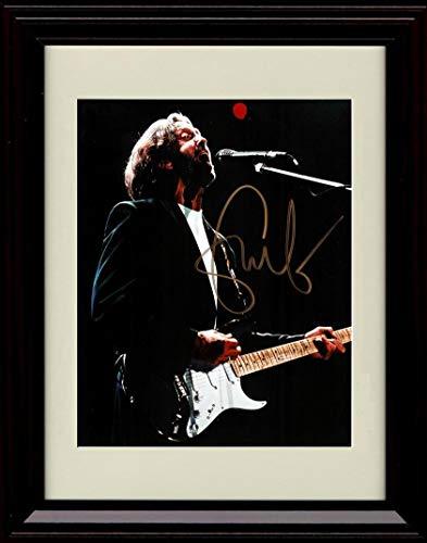 Framed Eric Clapton Autograph Replica Print - Singing