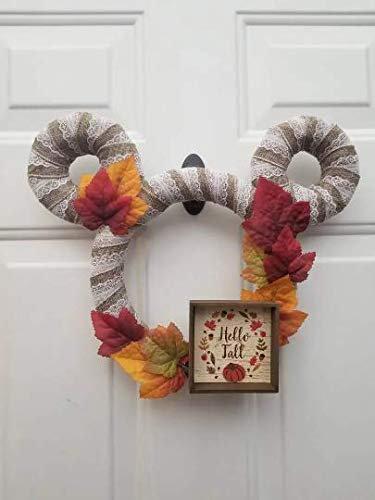 A Little Magic Decor Disney Hello Fall Wreath - Autumn Leaves