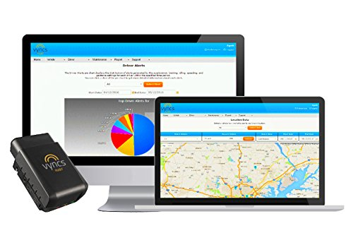 GPS Tracker for Fleet: No Monthly Fees Vyncs Fleet OBD 3G Car GPS Tracker, Free 1 Year Data Plan, Vehicle Diagnostics, Trip Logging, Driver Safety Alerts, Fuel Cost, Fuel Report, Emission Report